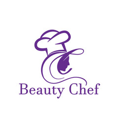 Beauty chef logo designs simple and modern vector