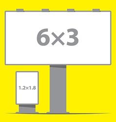 billboard board and citylight outdoor advertising vector image