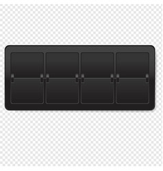 Black counter isolated transparent background vector