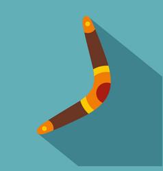 Boomerang icon flat style vector