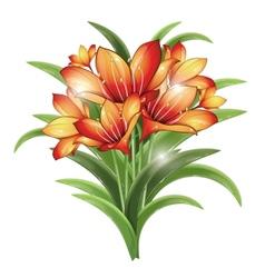 bunch of orange lilies vector image vector image