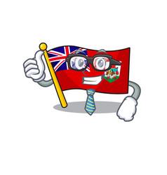 Businessman flag bermuda on the vector