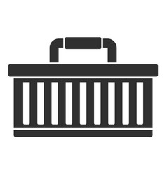 car tool box icon simple style vector image