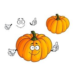 Cartoon bright orange pumpkin vegetable vector