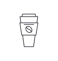 coffee mug with you line icon concept coffee mug vector image