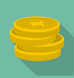 concept coin icon flat style vector image