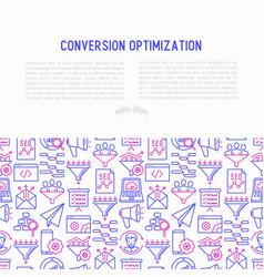 Conversion optimization concept vector