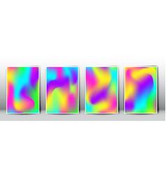 crazy holographic gradient templates vector image