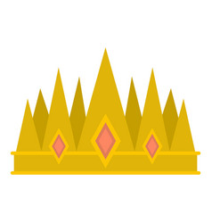 Crown icon isolated vector