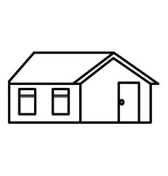 Cute house exterior icon vector