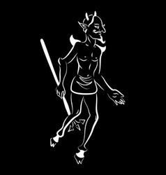 diablo man black vector image