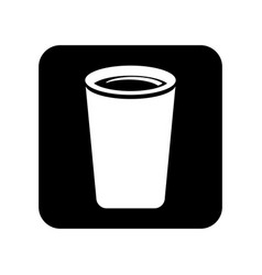 Drink glass isolated icon vector
