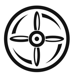 Drone propeller icon simple style vector