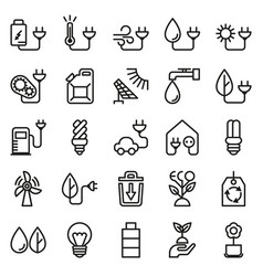 eco icon set on white background vector image