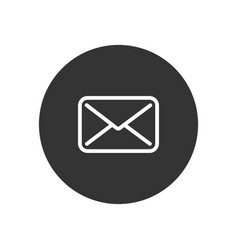 envelope icon in modern style for web site and vector image
