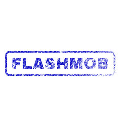 flashmob rubber stamp vector image
