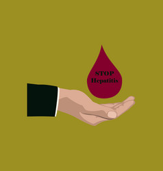 Flat icon on theme world hepatitis day drop of vector