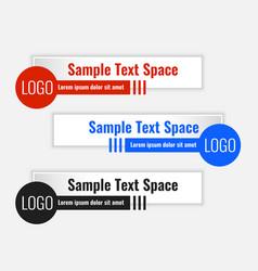 Geometric lower third modern template design set vector