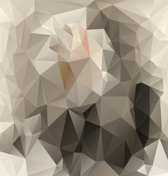 Gray beige polygonal triangular pattern background vector