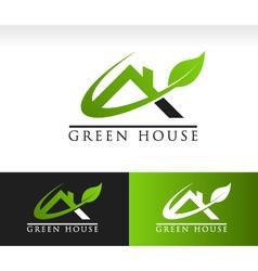 Green house rologo icon vector