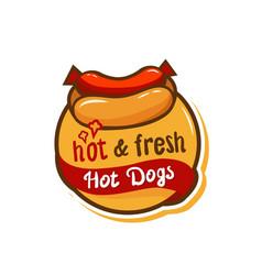 hotdog logo icon2 vector image