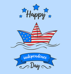 Independence day cartoon vector