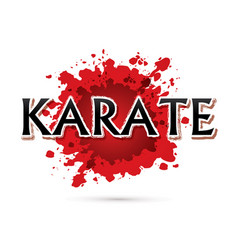 Karate font design vector