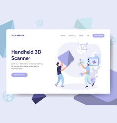 landing page template of handheld 3d scanner vector image