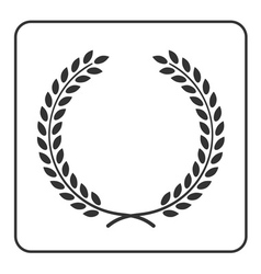 laurel wheat wreath symbol victory achievement vector image