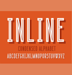 line alphabet set vector image