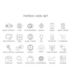 line icons set fintech pack vector image