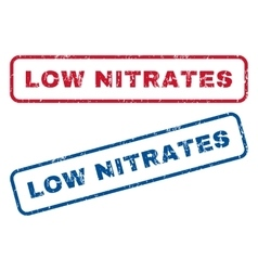 Low Nitrates Rubber Stamps vector image