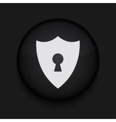 modern shield black circle icon vector image
