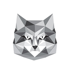 origami cat vector image