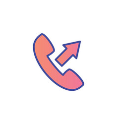 outgoing call flat icon sign symbol vector image