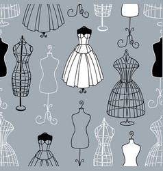 Pattern mannequins sewing atelier vector