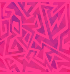 Pink geometric seamless pattern with grunge effect vector
