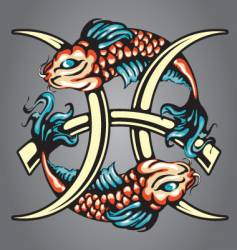 Pisces star sign vector