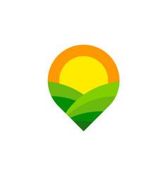 Point farm logo icon design vector