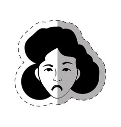 Portrait female expression face vector