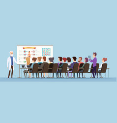 Professor lecturer doctor training group speech vector