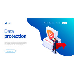 protection concept man with super abilities or a vector image
