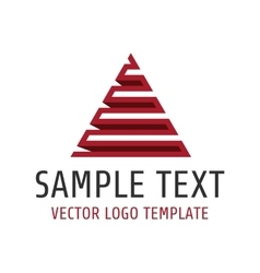 Pyramid logo template vector