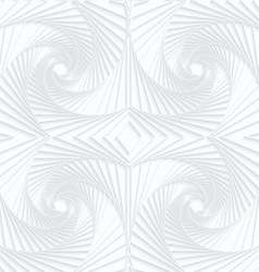 Quilling white paper striped swirls vector image