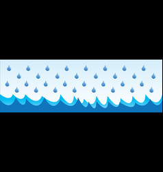 rain in sea drops for logo design question vector image