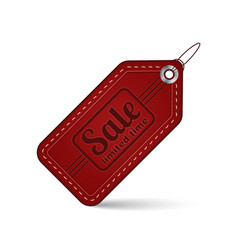 red sale price tag or label vector image