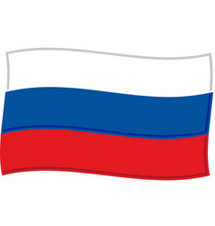 russian flag graphic vector image