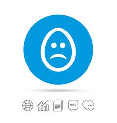 Sad egg face sign icon sadness symbol vector