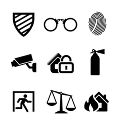 Safety and security icons vector image