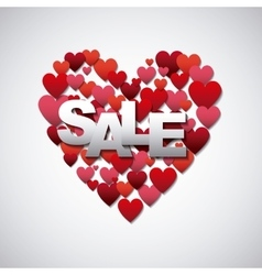 Sale pink heart icon vector